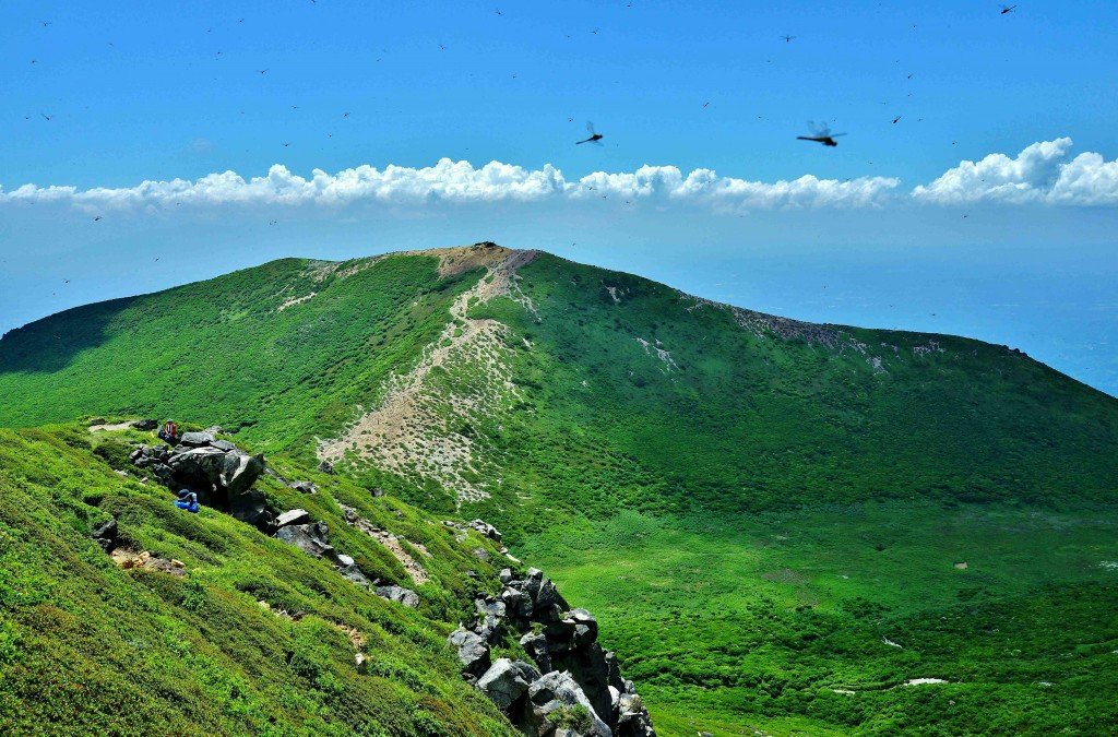 中岳山頂から
